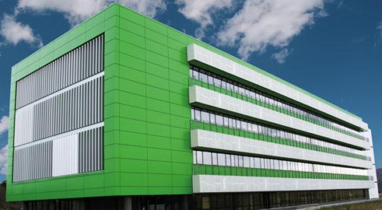 Paneles aluminio lacado fachada